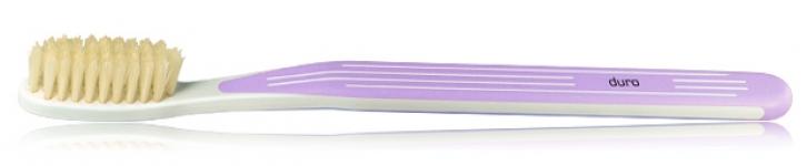 Зубная щетка с натуральной щетиной жесткая